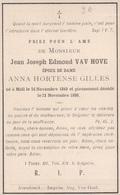 Doodsprentje Foto Jean Joseph Edmond Van Hove (x Gilles ) ° Mol Moll 1849 - 1898 - Images Religieuses