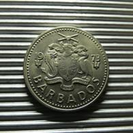 Barbados 25 Cents 1973 - Barbados