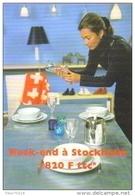 """Carte Postale édition """"Carte à Pub"""" - Week-end à Stockholm (Suède - Vol SAS - Compagnie D'aviation) - Publicité"""