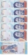 Venezuela - 5 Pcs X 2 Bolivares 27.12. 2012 Pick 88c UNC Lemberg-Zp - Venezuela