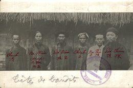 TETES DE BANDITS TONKIN VIETNAM INDO CHINE ASIA  16*12 CM Fonds Victor FORBIN 1864-1947 - Unclassified