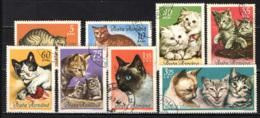 ROMANIA - 1965 - SERIE GATTI - CATS - USATI - Oblitérés