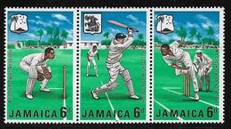 JAMAICA -1968- 3 Valori Nuovi Stl Uniti In Striscia Dedicati Ai CAMPIONATI DI CRICKET DEI CARAIBI- In Ottime Condizioni. - Cricket