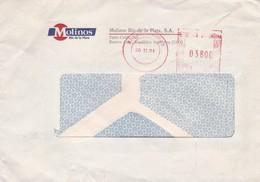 1991 COMMERCIAL AIRMAIL- MOLINOS RIO DE LA PLATA SA. CIRCULEE, FRANKING MACHINE - BLEUP - Lettres & Documents