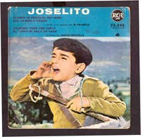 España. Disco De Vinilo A 45 Rpm. Joselito. El Rey Moro. La Barca. Colombia. El Tango. Estado Medio. - Vinyl Records