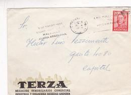 1950'S COMMERCIAL COVER- TERZA. CIRCULEE BUENOS AIRES, BANDELETA PARLANTE - BLEUP - Argentine