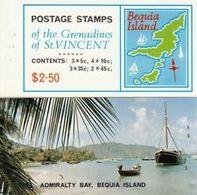 5541BIS ) 1976 Grenadine Di St Vincent $2.50 Mappe Di BEQUIA Island Libretto.-MNH** - Grenada (...-1974)