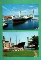 Ship Bateau 13 Martigues Cargo Port Renard Et Cargo Haminea Lot De 2 Cartes Postales - Commerce