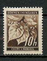 Bohëme Et Moravie - Böhmen Und Mähren - Bohemia And Moravia 1939-40 Y&T N°21 - Michel N°21 Nsg - 10h Tilleul - Bohême & Moravie
