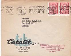1965 COMMERCIAL COVER- CATALIT. CIRCULEE, BANDELETA PARLANTE - BLEUP - Lettres & Documents
