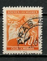 Bohëme Et Moravie - Böhmen Und Mähren - Bohemia And Moravia 1940-41 Y&T N°42 - Michel N°42 (o) - 40h Tilleul - Oblitérés