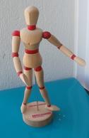 Mannequin Articulé En Bois Pour Le Dessin, Publicité Pour Le Médicament DAFALGAN Paracématol - Dessins