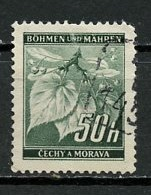 Bohëme Et Moravie - Böhmen Und Mähren - Bohemia And Moravia 1940-41 Y&T N°43 - Michel N°43 (o) - 50h Tilleul - Oblitérés