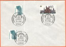 GERMANIA - GERMANY - Deutschland - ALLEMAGNE - 1990 - 2 X 5 + 60 2000 Jahre Speyer + Special Cancel Kiel, Briefmarkensch - Storia Postale