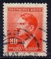 Bohëme Et Moravie - Böhmen Und Mähren - Bohemia And Moravia 1942-45 Y&T N°82 - Michel N°82 (o) - 80p Hitler - Bohême & Moravie