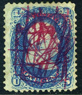 US #63  VERY FANCY CANCEL ... 1861-1862 Ben Franklin Issue - Used Stamps