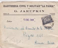 "1944 COMMERCIAL COVER- SASTRERIA CIVIL Y MILITAR ""LA FAMA"". CIRCULEE PARANA TO BUENOS AIRES - BLEUP - Argentine"