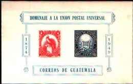 5542BIS ) Guatemala 1949 UPU 75th ANNIVERSARIO FRANCOBOLLO SHEETLET .-MNH** - Guatemala