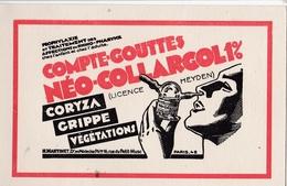 CPA : Carte Publicitaire Produit Pharmaceutique Neo Collargol Laboratoire Martinet Paris IV ème - Publicité
