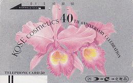 Télécarte Ancienne Japon / 110-9942 - Fleur ORCHIDEE - ORCHID Flower Japan Front Bar Phonecard  / A- Blume  - 2474 - Flores