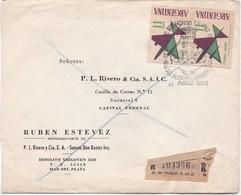 1965 COMMERCIAL COVER- RUBEN ESTEVEZ. CIRCULEE RECOMMANDE STAMP A PAIR SPECIAL OBLITERATION - BLEUP - Argentine