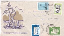 1981 COVER SPC- CONOCER LA PATAGONIA ES UN DEBER. CIRCULEE BARILOCHE TO BUENOS AIRES - BLEUP - Lettres & Documents