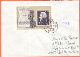 GERMANIA - GERMANY - Deutschland - ALLEMAGNE - 1992 - Wolfgang Amadeus Mozart Minisheet - Viaggiata Da Kreuztal Per Bad - Storia Postale
