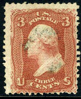 US #94  Used 1868  F Grill   Very Light Cancel - Used Stamps