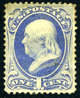 US #145  SUPER LIGHT CANCEL  VF ... 1870 Issue - Used Stamps