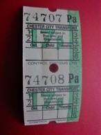 CHESTER CITY  SERVICE TRANSPORT Transportation Tickets Single Tickets Billet Ticket Metro Shuttle Service - Europe