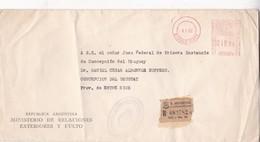1962 COMMERCIAL COVER- MINISTERIO DE RELACIONES EXTERIORES. CIRCULEE BUENOS AIRES TO ENTRE RIOS. FRANKING MACHIN - BLEUP - Lettres & Documents