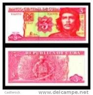 O) 2005 CUBA, BANKNOTE 3 PESOS CUBANOS, BANCO CENTRAL DE CUBA, ERNESTO CHE GUEVARA, SERIAL NUMBER, UNC, - Cuba