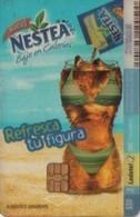 TARJETA TELEFONICA DE MEXICO. (TRANSPARENTE) NESTEA (037) . - México
