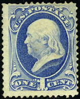 US #156 Mint No Gum,  Fresh Color  1873 Issue With Secret Mark - Unused Stamps