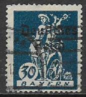 GERMANIA REICH REP DI WEIMAR 1920 FRANCOBOLLI DI BAVIERA SOPRASTAMPATI UNIF. 224 USATO VF - Germania