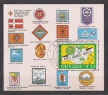Guyana 1989 / MiNr. Block 40 O Used (mit 2490) / Welt-Pfadfindertreffen In Australien - Guyane (1966-...)