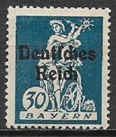 GERMANIA REICH REP DI WEIMAR 1920 FRANCOBOLLI DI BAVIERA SOPRASTAMPATI UNIF. 224 MNH SENZA GOMMA - Germania