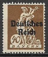 GERMANIA REICH REP DI WEIMAR 1920 FRANCOBOLLI DI BAVIERA SOPRASTAMPATI UNIF. 225 MNH SENZA GOMMA - Germania