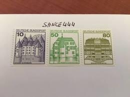 Germany Castle Strip 10+50+80 Bottom Imperf Mnh 1980 - [7] Federal Republic