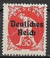 GERMANIA REICH REP DI WEIMAR 1920 FRANCOBOLLI DI BAVIERA SOPRASTAMPATI UNIF. 226 MNH SENZA GOMMA - Germania