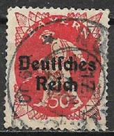 GERMANIA REICH REP DI WEIMAR 1920 FRANCOBOLLI DI BAVIERA SOPRASTAMPATI UNIF. 226 USATO VF - Germania