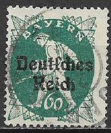 GERMANIA REICH REP DI WEIMAR 1920 FRANCOBOLLI DI BAVIERA SOPRASTAMPATI UNIF. 227 USATO VF - Germania