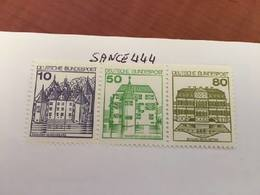 Germany Castle Strip 10+50+80 Top Imperf Mnh 1980 - [7] Federal Republic