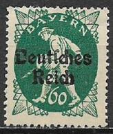 GERMANIA REICH REP DI WEIMAR 1920 FRANCOBOLLI DI BAVIERA SOPRASTAMPATI UNIF. 227 MNH SENZA GOMMA VF - Germania