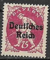 GERMANIA REICH REP DI WEIMAR 1920 FRANCOBOLLI DI BAVIERA SOPRASTAMPATI UNIF. 228 MNH SENZA GOMMA VF - Germania