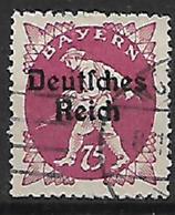 GERMANIA REICH REP DI WEIMAR 1920 FRANCOBOLLI DI BAVIERA SOPRASTAMPATI UNIF. 228 USATO VF - Germania