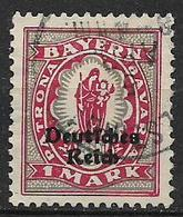 GERMANIA REICH REP DI WEIMAR 1920 FRANCOBOLLI DI BAVIERA SOPRASTAMPATI UNIF. 230 USATO VF - Germania