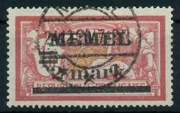 MEMEL 1920 Nr 28y Gestempelt Gepr. X887696 - Memelgebiet