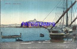 114396 MALTA ISOLA BRIDGE & SHIP POSTAL POSTCARD - Malta