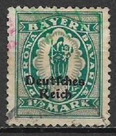 GERMANIA REICH REP DI WEIMAR 1920 FRANCOBOLLI DI BAVIERA SOPRASTAMPATI UNIF. 232  USATO VF - Germania